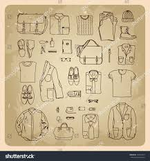 mens clothes sketches men fashion clothes stock vector 124632619