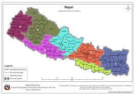 Kathmandu Nepal Map by Home Survey Department