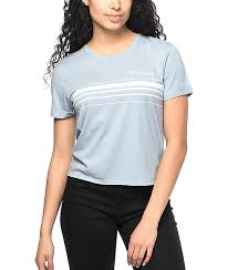 light blue top women s empyre yohanna whatever light blue t shirt zumiez