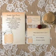 Wedding Stationery Sets Fall Mason Jars Wedding Invitations With Lace Ewi243 As Low As 0 94