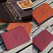 Handmade Photo Albums Leather 10 Inch Handmade Diy Photo Album Kraft Scrapbooking Book