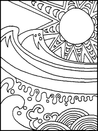 abstract summer coloring pages printable coloring sheets