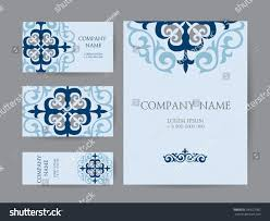 Invitation Cards Business Set Business Cards Invitations Cards Templates Stock Vector