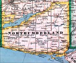 Map Of Ontario The Changing Shape Of Ontario County Of Northumberland
