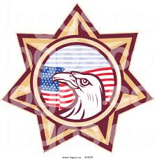 Eagles Flag Royalty Free Vector Of A Bald Eagle Flag Star Logo By Patrimonio