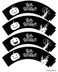 black happy halloween cupcake wrappers