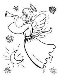 christmas angel free christmas angel coloring page