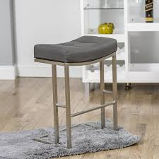 Backless Counter Stools Amazon Com Solis Grey Stationary Backless Counter Height Stool
