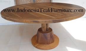 Round Teak Table And Chairs Round Teak Wood Table Furniture Bali Indonesia