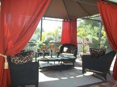 Outdoor Sheer Curtains For Patio Patio Pizazz Outdoor Gazebo Sheer Drapes 2 Panels Curtains
