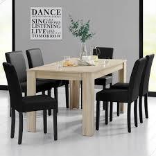 sedia sala da pranzo gallery of tavolo da pranzo 160x90 rovere sbiancato 6 sedie nero