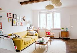 room decors wall decors fancy classic living room decor with yellow sofa