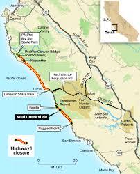 Cambria Map California California Map Big Sur