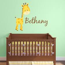 Giraffe Wall Decals For Nursery Giraffe Wall Decals Personalized Wall Decals For Nursery