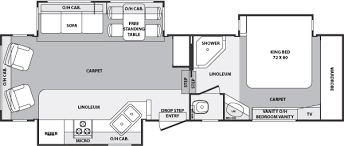Forest River 5th Wheel Floor Plans 2005 Forest River Cardinal Fifth Wheel Rvweb Com