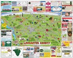 map of lancaster county pa maps usa