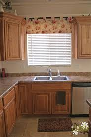 hang curtain under kitchen sink decorate the house with