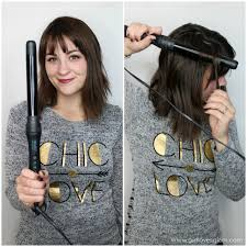 best curling wands for thick hair messy curls for short and medium length hair girl loves glam