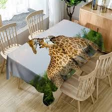 Giraffe Floor L 2018 3d Giraffe Printed Waterproof Table Cloth