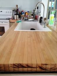 Diy Wood Kitchen Countertops Bowled Over Reclaimed Wood Countertop Over The Top Awesome