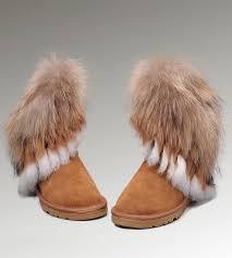 womens ugg boots fox fur ugg fox fur 8288 chestnut boots ugg fox fur boots