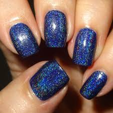 wendy u0027s delights navy blue holographic nail polish from born