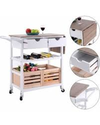 find the best savings on costway rolling kitchen trolley island