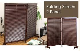 Japanese Screen Room Divider Japanese Movable Wood Partition Wall 2 Panel Folding Screen Room