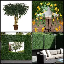 Fake Plants Fire Retardant Artificial Plants Foliage Hedges Artificial