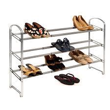 3 tier expandable shoe rack chrome seville classics
