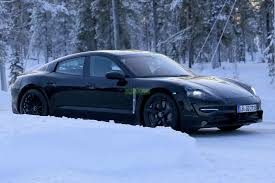 porsche mission e charging porsche mission e spied winter testing gm volt chevy volt