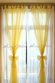 Yellow Window Curtains Free Shipping European Style Solid Color Voile Window Curtains
