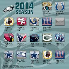 eagles announce 2014 schedule