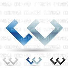 abstract designs and logo icons for letter w set 3 cidepix