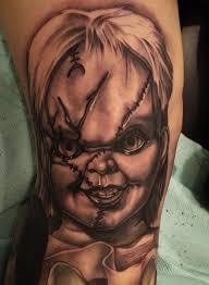 tattoo portraits on arm chucky tattoo portraits the return of the killer doll tattoo life