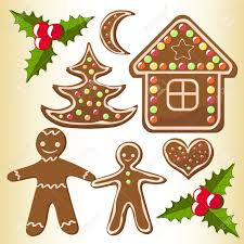 set gingerbread cookies vector illustration royalty free