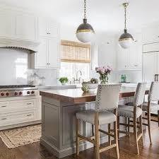 butcher block kitchen island ideas butcher block island countertop with gray nailhead counter