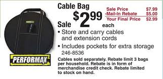wow this is a great price on these performax cable bags