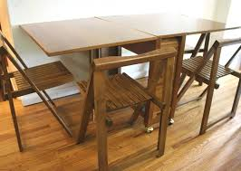 Folding Dining Table With Chairs Kitchen Table Folding Folding Dining Table For Space Saving