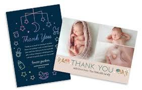 baby thank you cards thankyou costco photo center