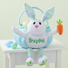 personalized bunny easter basket personalized blue bunny easter basket personalized planet