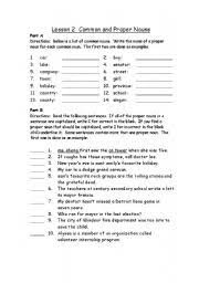 english teaching worksheets common and proper nouns