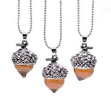 silver drop pendant necklace images Acorn water drop pendant necklace project yourself jpg