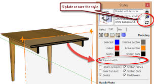 sketchup layout line color section line weight in layout layout sketchup community