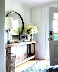 White Foyer Table White Foyer Table Modern Farmhouse Entryway Reclaimed Wood Console