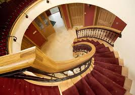bespoke curved stairs and handrails