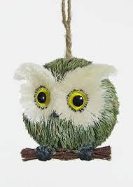 owl ornaments grass baby owl christmas tree ornament decor window prop