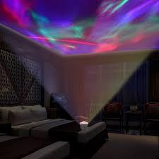 Night Light Kids Room by Aurora Borealis Projector Speaker Led Decorative Night Light Mp3