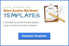 Bid Sheets For Silent Auction Template Bid Sheets 101 Improve Your Silent Auction With Better Bid Sheets