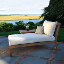 Custom Patio Chair Cushions Oak Lounge Chair With White Sunbrella Replacement Cushions